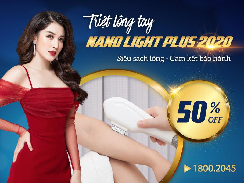 Triệt lông tay bằng công nghệ Nano Light Plus 2020 – Da trắng mịn không tì vết