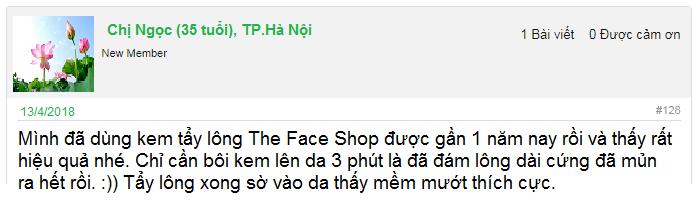 kem tẩy lông the face shop có tốt không
