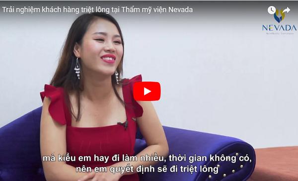 Video cảm nhận của khách hàng sau khi trải nghiệm dịch vụ triệt lông tại Nevada