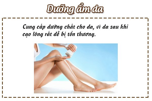 cách cạo lông chân không mọc lại