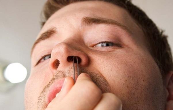 nhổ lông mũi