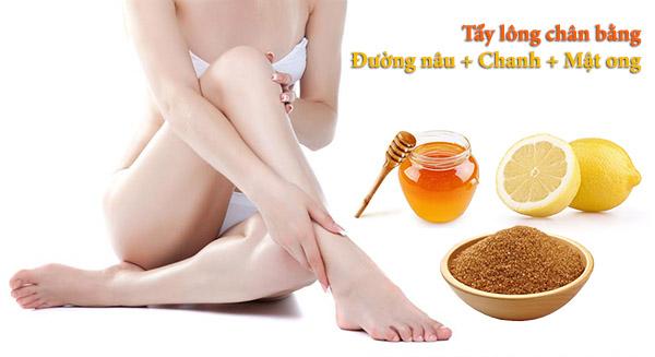 Tẩy lông chân bằng phương pháp tự nhiên
