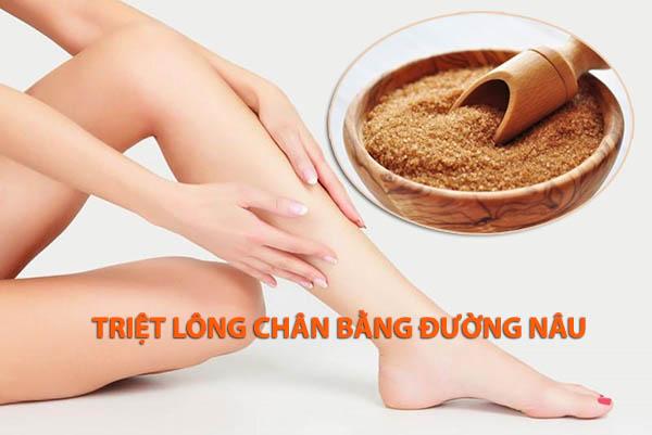 Bật mí cách triệt lông chân bằng đường nâu đơn giản mà hiệu quả cao