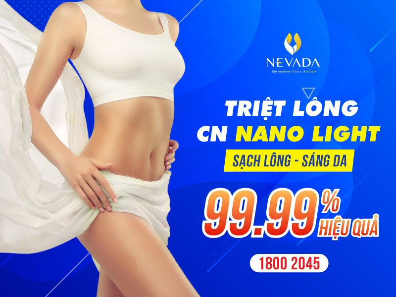 Triệt lông toàn thân công nghệ Nano Light