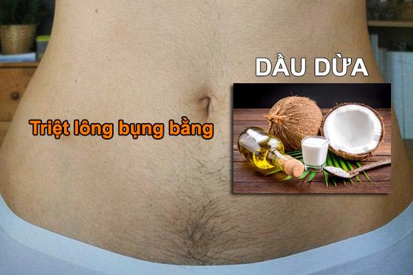 Phương pháp triệt lông bụng bằng dầu dừa hiệu quả bất ngờ không thể bỏ qua