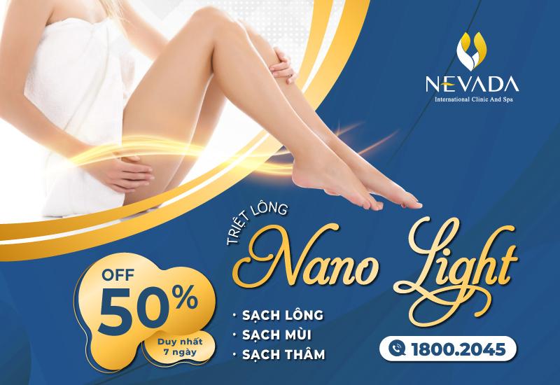 [OFF 50% CHỈ TỪ 499K ] Triệt lông CN Nano Light – Sạch lông, sáng da tự tin xuống phố