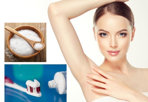 Mách nhỏ bạn cách tẩy lông nách bằng kem đánh răng và muối | Một số cách triệt lông nách tại nhà hiệu quả