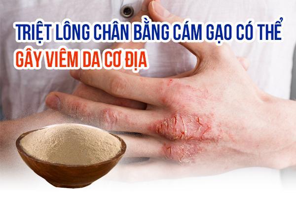 cách tẩy lông chân bằng cám gạo,tẩy lông chân bằng cám gạo,triệt lông chân bằng cám gạo