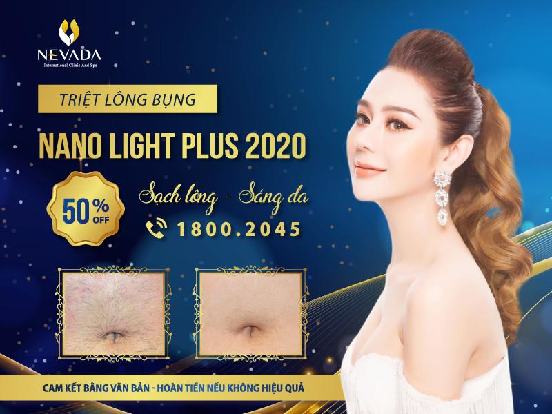 Triệt lông bụng vĩnh viễn công nghệ Nano Light Plus 2020 tại Nevada có bảo hành