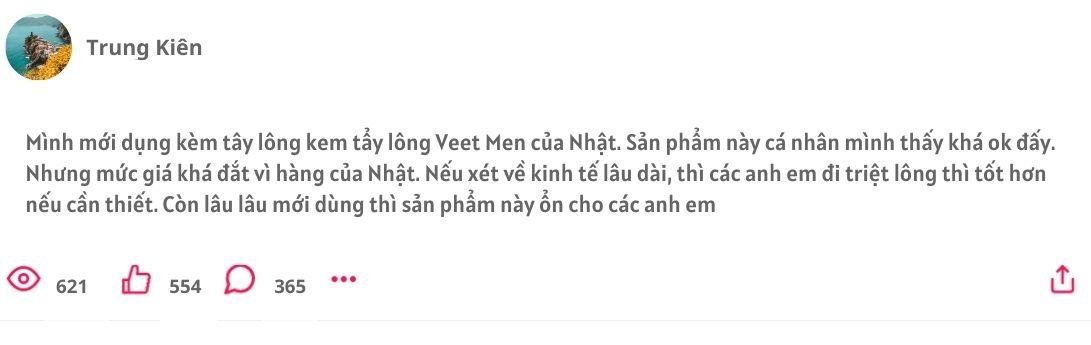 Kem tẩy lông cho nam, Kem tẩy lông Veet cho nam, Kem tẩy lông Veet Nhật Bản, Kem tẩy lông Veet Men cho nam giới Nhật Bản